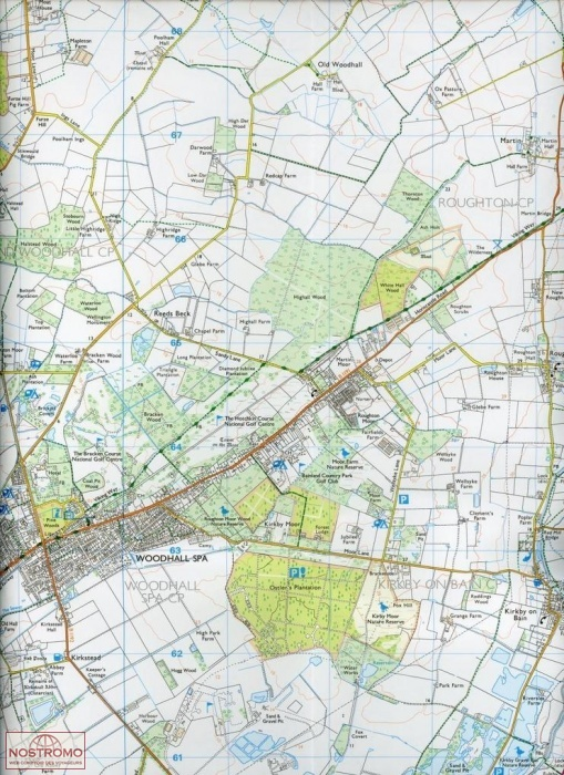 273 LINCOLNSHIRE WOLDS SOUTH | hiking map | nostromoweb