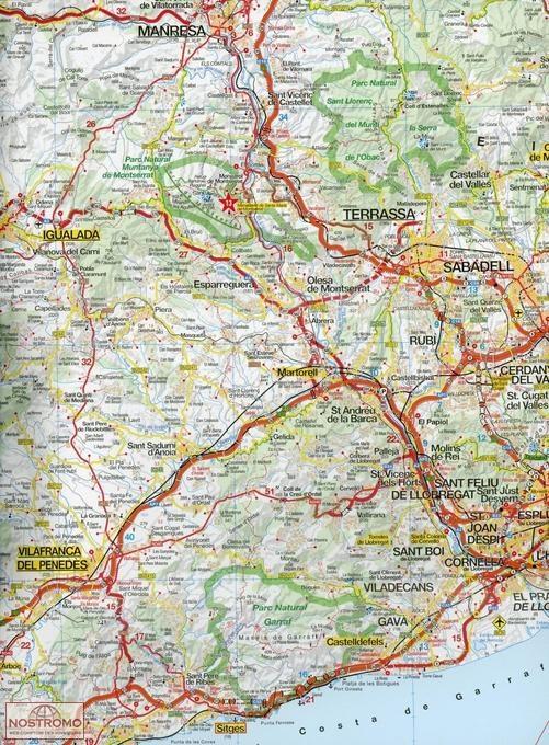 COSTA BRAVA road map nostromoweb