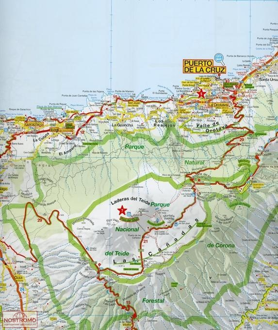 TENERIFE GRAN CANARIA road map nostromoweb