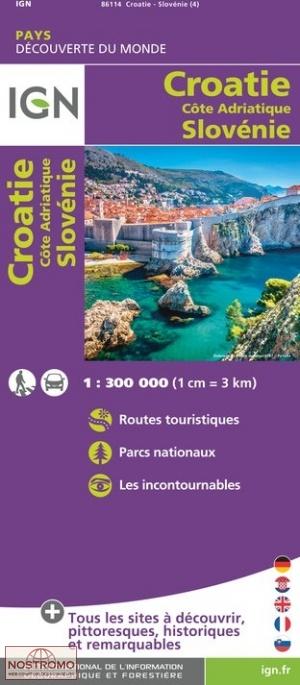 CROATIE (CÔTE ADRIATIQUE)   SLOVENIE | carte touristique IGN