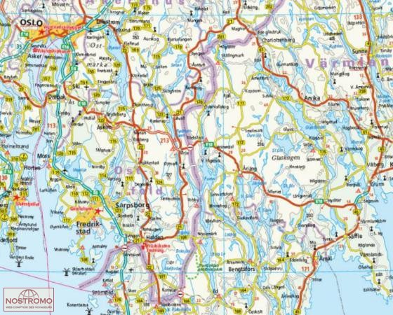 SOUTHERN SWEDEN SOUTHERN NORWAY Reise Know How road map