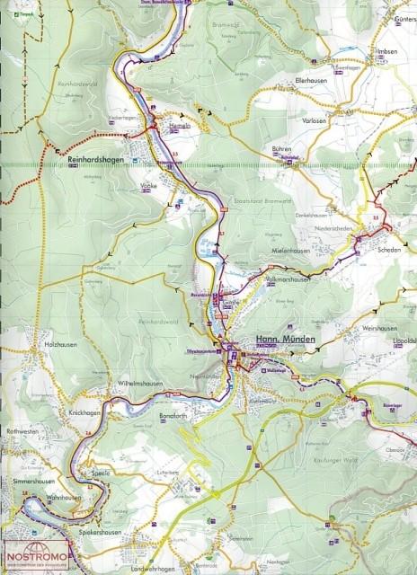 Nds16 g ttingen und umgebung carte de cyclotourisme for Hotels in gottingen und umgebung