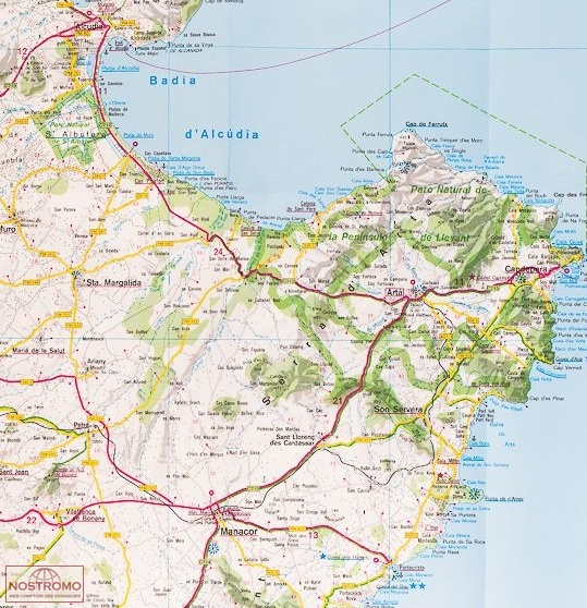BALEARIC ISLANDS IGN travel map nostromoweb