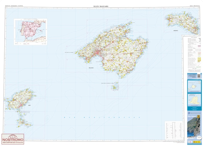 BALEARIC ISLANDS | CNIG travel map | nostromoweb