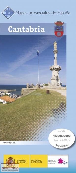 CANTABRIE | carte touristique CNIG | nostromoweb