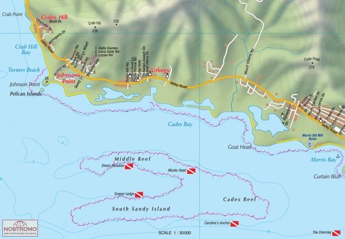 ANTIGUA AND BARBUDA travel map nostromoweb