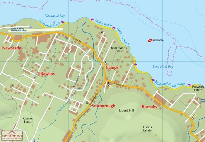 ST KITTS & NEVIS | travel map | nostromoweb