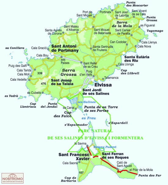 IBIZA FORMENTERA Alpina hiking maps nostromoweb