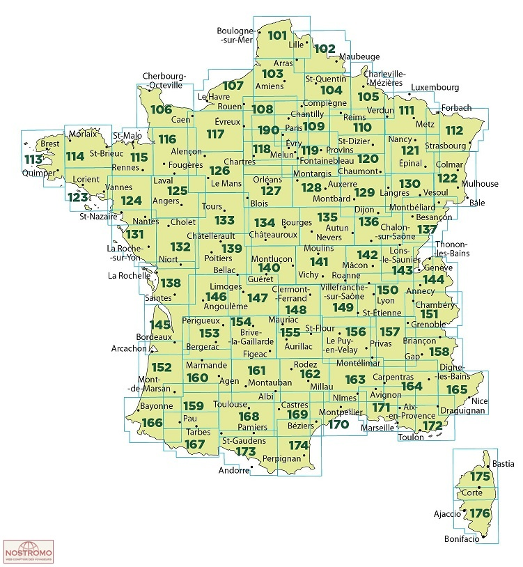 153 PERIGUEUX BERGERAC travel map nostromoweb