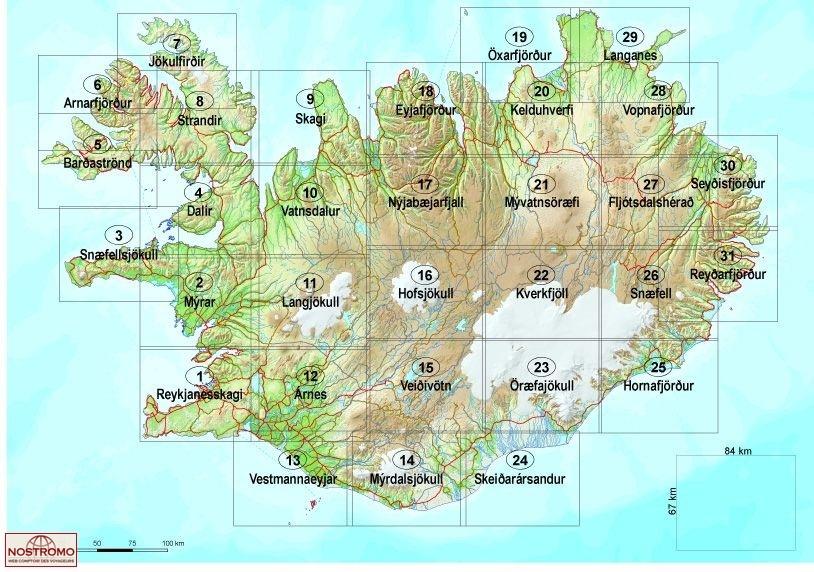 Snaefell 26 Topographical Map Mal Og Menning Iceland Nostromoweb