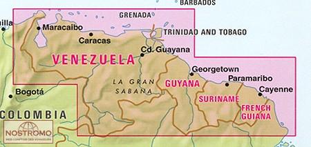 Venezuela travel map nostromoweb venezuela guyana suriname french guiana sciox Images