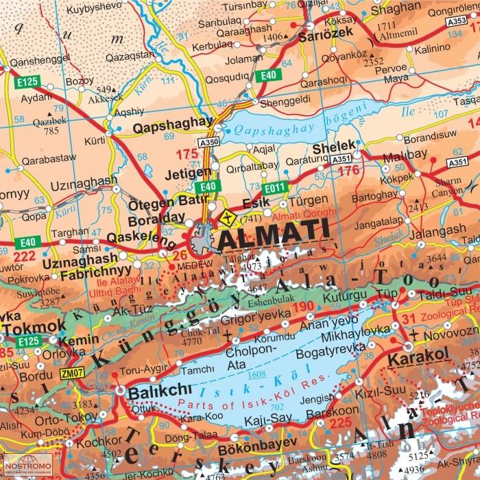 KAZAKHSTAN   gizi map travel map   nostromoweb