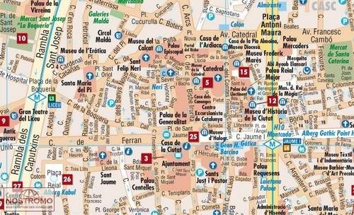 Barcelone Plan De Ville Borch Nostromoweb