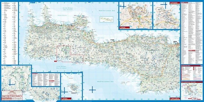 CRETE | carte touristique Borch | nostromoweb