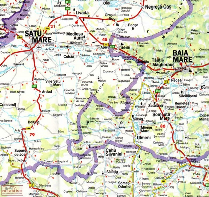 ROMANIA MOLDOVA Freytag Berndt road map nostromoweb