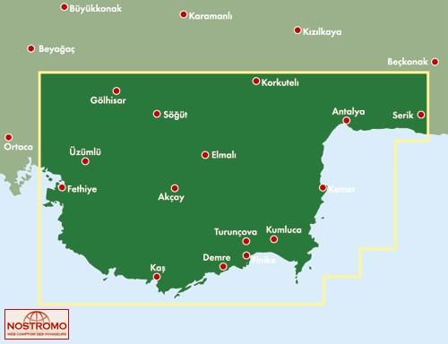 TURKISH RIVIERA Freytag Berndt travel map nostromoweb