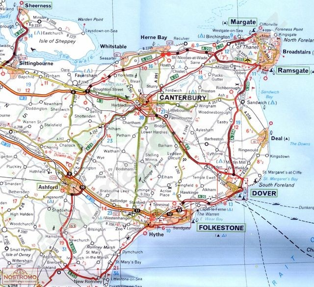 Map Of England Midlands.504 Southeast England Road Map Nostromoweb