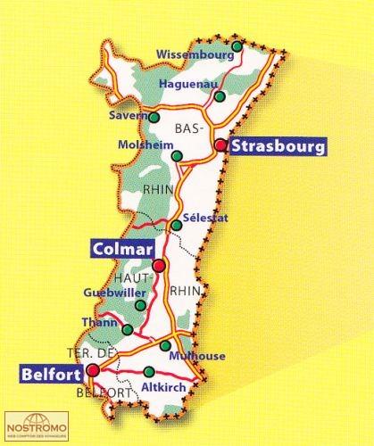 Carte Geographique Alsace Bas Rhin.315 Bas Rhin Haut Rhin