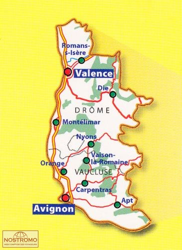 332 DRME VAUCLUSE road map michelin nostromoweb