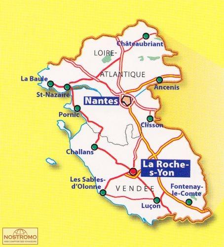 Carte Loire Atlantique Vendee.316 Loire Atlantique Vendee