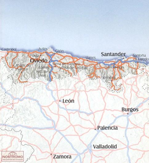02 ASTURIAS CANTABRIA road map nostromoweb