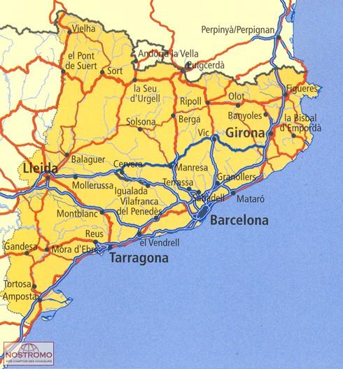carte catalogne touristique