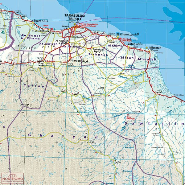 LIBYA road map nostromoweb