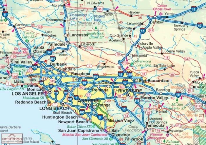 Souvent USA OUEST | carte touristique | nostromoweb RP96